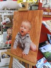Fotografie na plátně vypnutá na dřev. rámu.